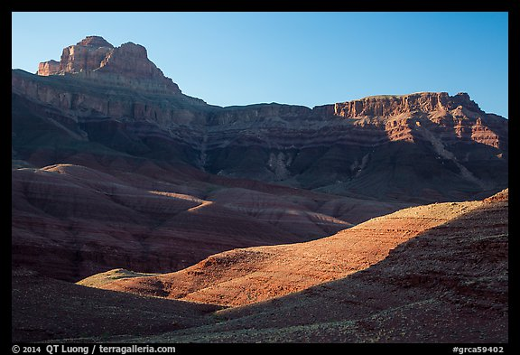 Buttes and mesas, late afternoon. Grand Canyon National Park (color)