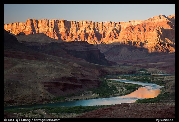 Palissades of the Desert and Colorado River. Grand Canyon National Park (color)