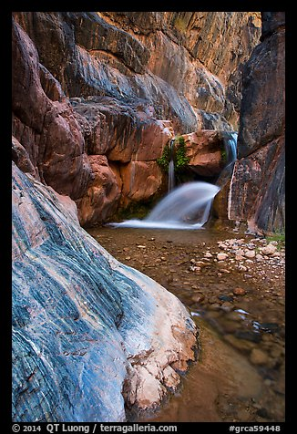 Clear Creek Canyon with waterfall. Grand Canyon National Park (color)