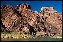 Kaibab Suspension Bridge on the Colorado River. Grand Canyon National Park ( color)