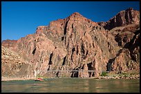 Bright Angel Suspension Bridge on the Colorado River. Grand Canyon National Park ( color)