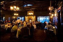Dining room in evening, El Tovar. Grand Canyon National Park ( color)