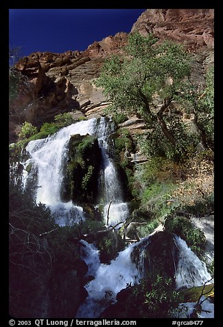 Thunder river upper waterfall. Grand Canyon National Park (color)