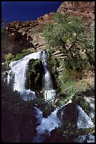 Thunder river upper waterfall. Grand Canyon National Park, Arizona, USA. (color)