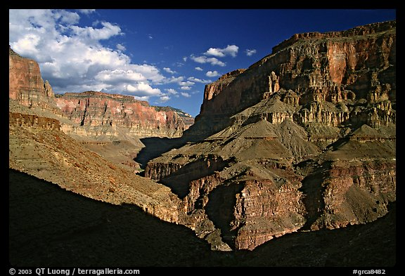 Confluence of Tapeats Creek and Thunder River. Grand Canyon National Park (color)