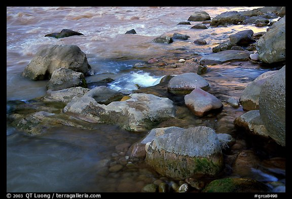 Rocks at  confluence of Tapeats Creek and  Colorado River. Grand Canyon National Park (color)