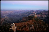 Moonrise, Point Imperial. Grand Canyon National Park, Arizona, USA. (color)
