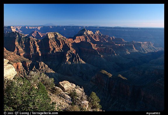 Bright Angel Point, late afternoon. Grand Canyon National Park (color)