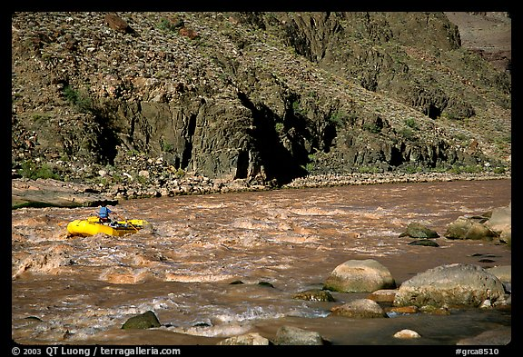 Rafting on  Colorado River. Grand Canyon National Park (color)