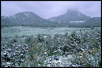 Fresh snow on meadows and mesas near  Park entrance. Mesa Verde National Park ( color)