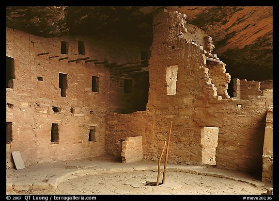 Kiva in Spruce Tree house. Mesa Verde National Park (color)