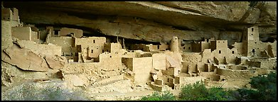 Cliff Palace, largest cliff dwelling in North America. Mesa Verde National Park (Panoramic color)