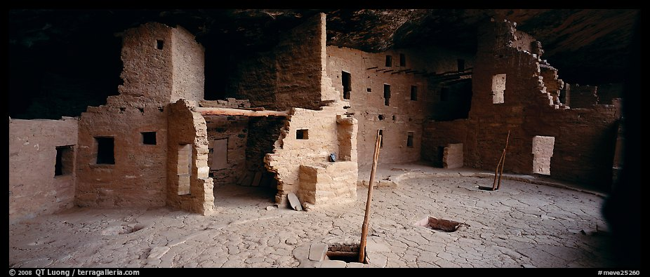 Spruce Tree House and Kiva entrances. Mesa Verde National Park (color)