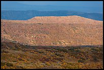 Layers of hills with autumn foliage. Mesa Verde National Park ( color)