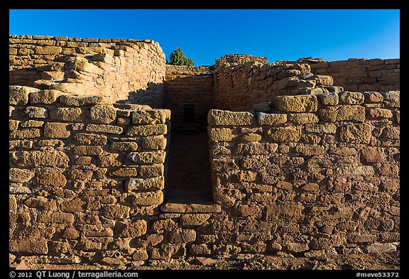 Far View House, early morning. Mesa Verde National Park (color)