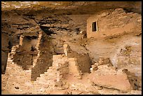 Walls in alcove, Mug House. Mesa Verde National Park ( color)