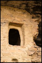 Window with original clay frame, Mug House. Mesa Verde National Park ( color)