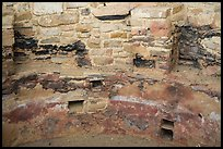 Kiva detail with multicolored original plaster. Mesa Verde National Park ( color)