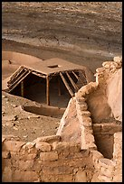 Masonery structure and pithouse, Step House, Wetherill Mesa. Mesa Verde National Park ( color)