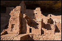 Original walls from Anasazi cliff dwelling. Mesa Verde National Park ( color)