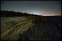 Cliff Palace at night, Chapin Mesa. Mesa Verde National Park ( color)