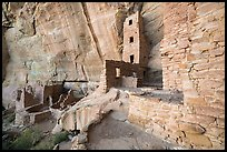 Ground-level view of Square Tower House. Mesa Verde National Park ( color)