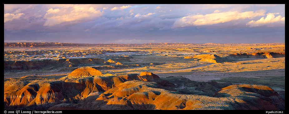 Evening on Painted Desert. Petrified Forest National Park (color)