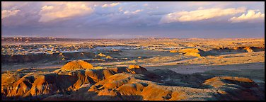 Evening on Painted Desert. Petrified Forest National Park (Panoramic color)