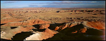 Painted Desert scenery. Petrified Forest National Park (Panoramic color)