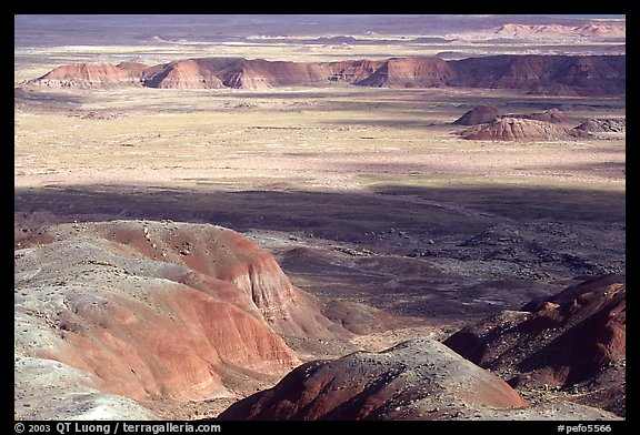 Painted desert seen from Chinde Point, morning. Petrified Forest National Park (color)