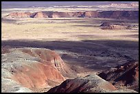 Painted desert seen from Chinde Point, morning. Petrified Forest National Park ( color)