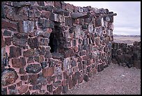 Agate House built with fossilized wood. Petrified Forest National Park, Arizona, USA. (color)