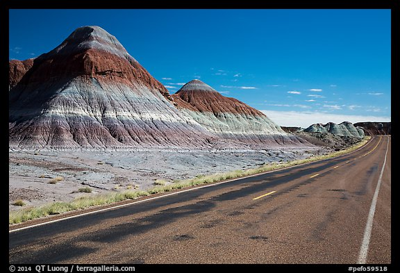 Road, The Tepees. Petrified Forest National Park (color)