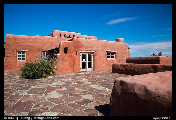 Painted Desert Inn. Petrified Forest National Park (color)