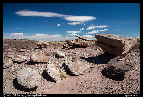 Concretion rocks, Painted Desert. Petrified Forest National Park (color)