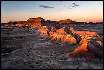 Puerco Ridge, sunset. Petrified Forest National Park ( color)