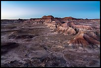 Puerco Ridge, dusk. Petrified Forest National Park ( color)