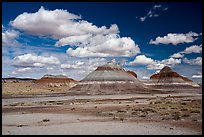 The Tepees and clouds. Petrified Forest National Park ( color)