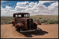 1932 Studebaker on historic Route 66. Petrified Forest National Park ( color)