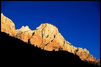 Peaks and shadows. Zion National Park, Utah, USA.