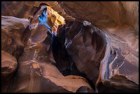 Sculpted alcove, Pine Creek Canyon. Zion National Park ( color)