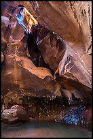 Fairy Glen and alcove, Pine Creek Canyon. Zion National Park ( color)