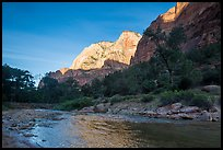 Virgin River and Lady Mountain. Zion National Park ( color)
