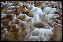 Close-up of Virgin River flowing over pebbles. Zion National Park ( color)