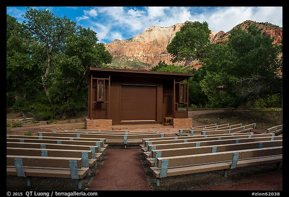 Amphitheater, Watchman Campground. Zion National Park (color)
