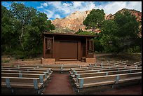 Amphitheater, Watchman Campground. Zion National Park, Utah, USA.