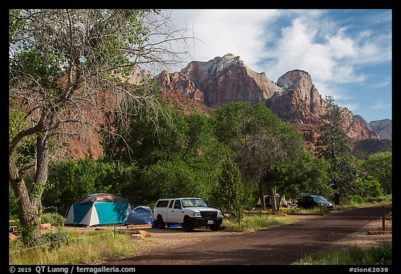 Watchman Campground. Zion National Park (color)
