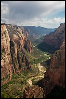 Zion Canyon from above. Zion National Park ( color)