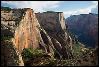 Cable Mountain and Zion Canyon. Zion National Park ( color)