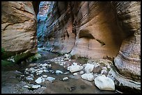White boulders, Orderville Canyon. Zion National Park ( color)